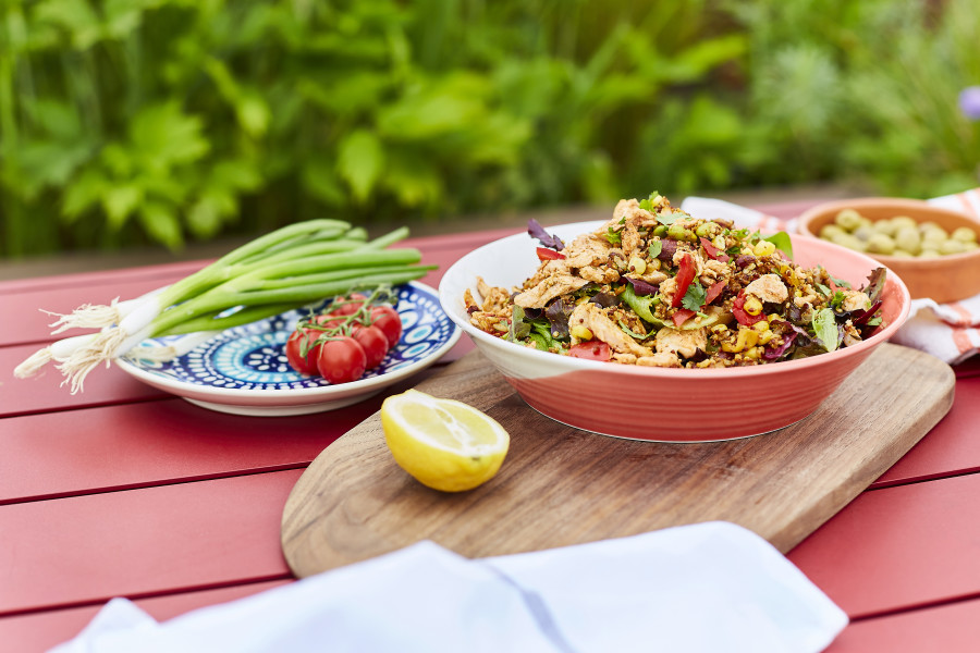 Harissa Chicken with Lemon & Mint Rice Salad  (Sharing)
