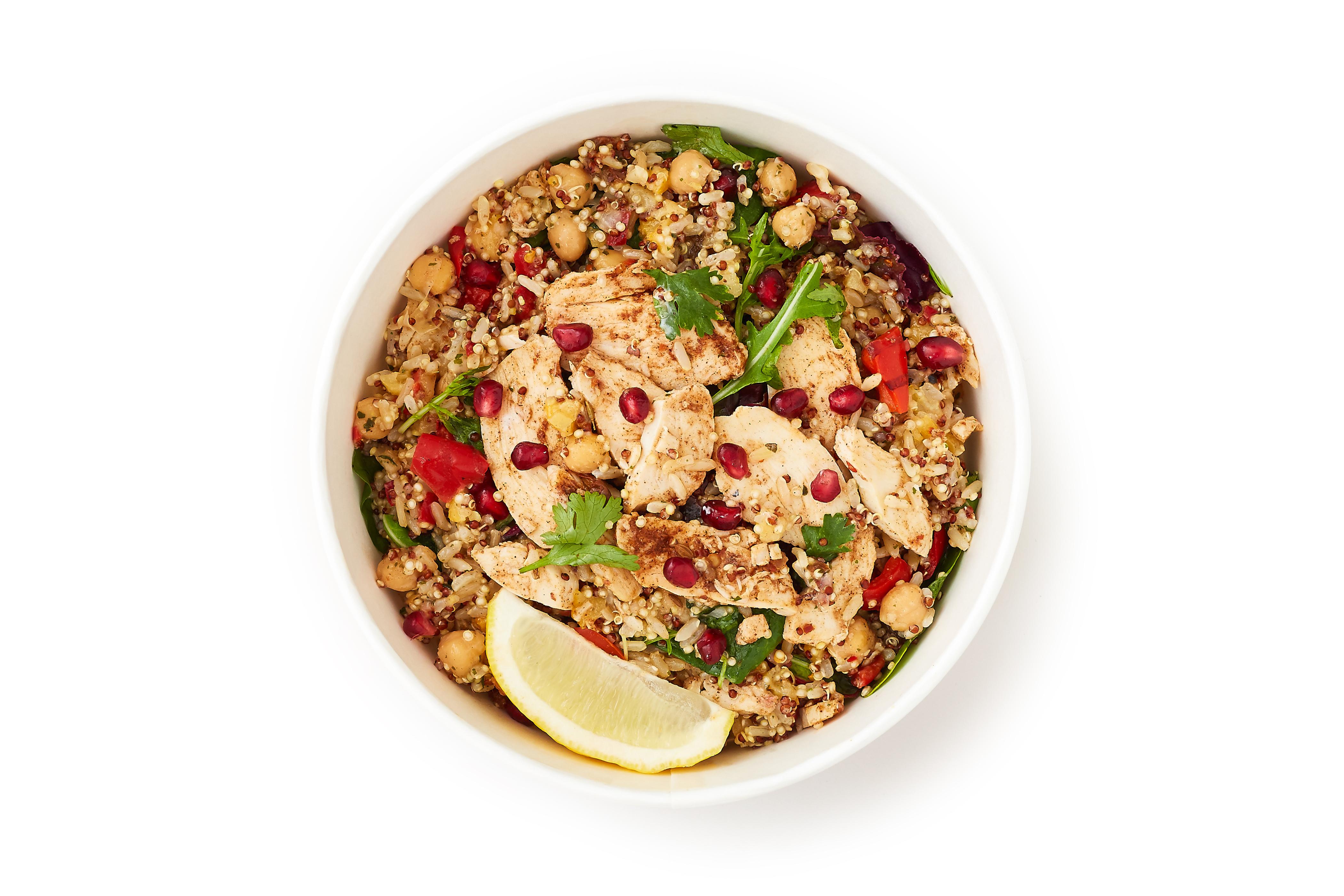 Harissa Chicken with Lemon & Mint Rice Salad