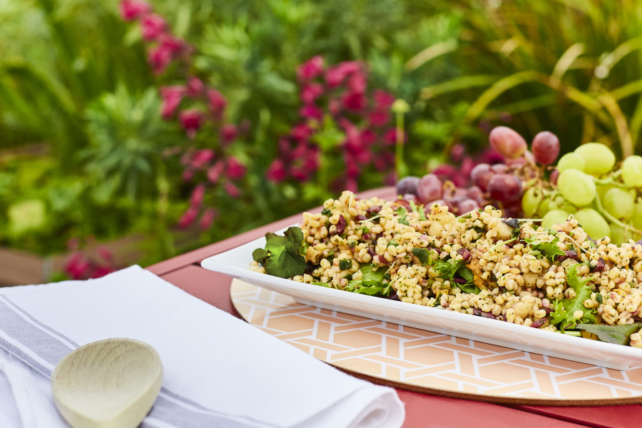 Wheatberry, Cranberry and Apple Salad (Halal Sharer)