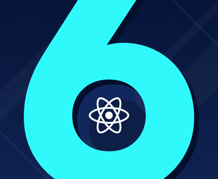 Number 6 with React logo inside.