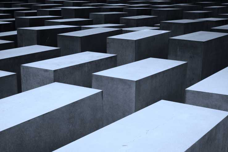 A view of tessellating concrete blocks