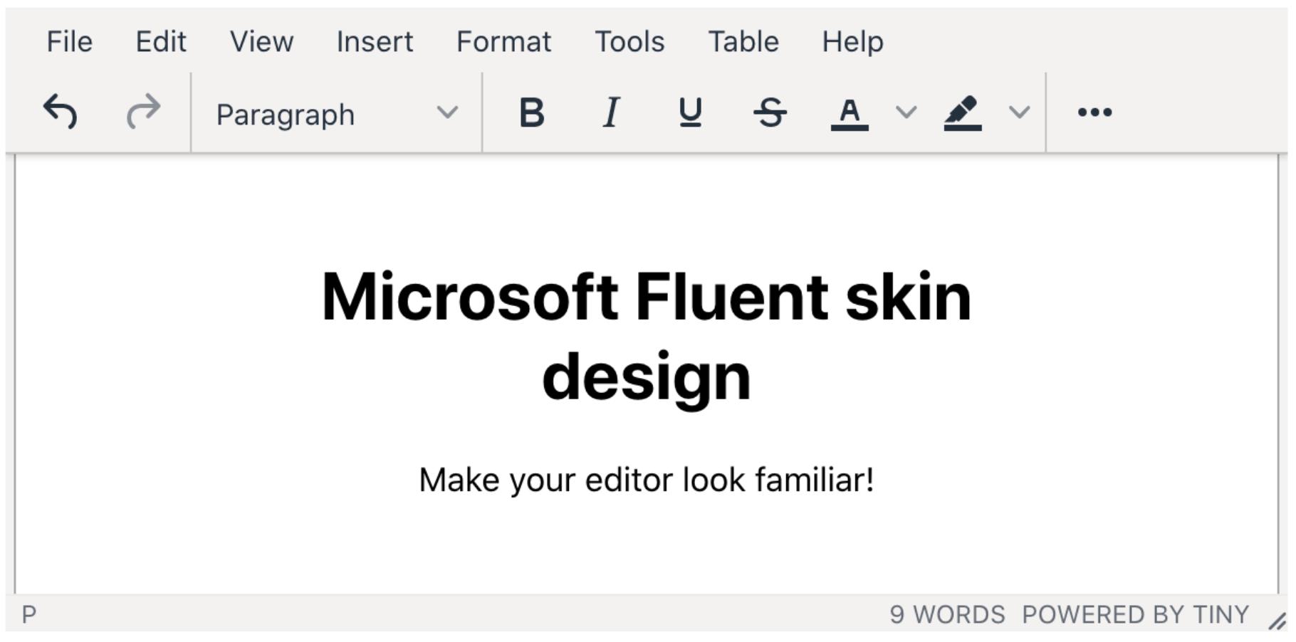 Image of the fluent skin design