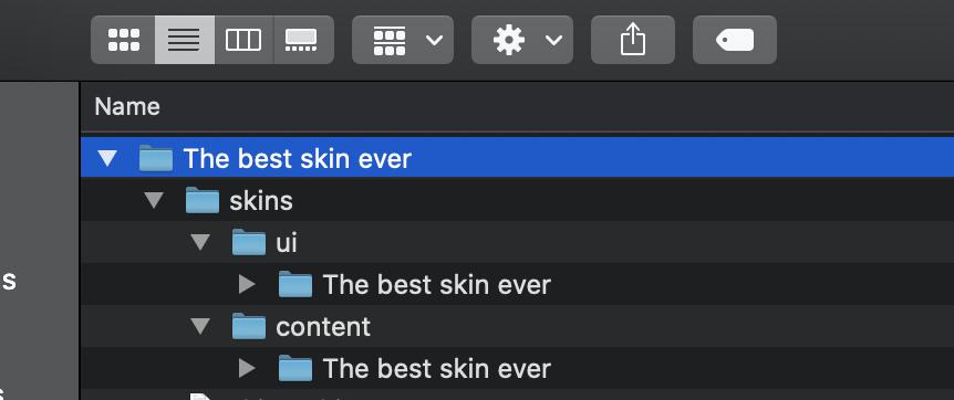 Screenshot of files