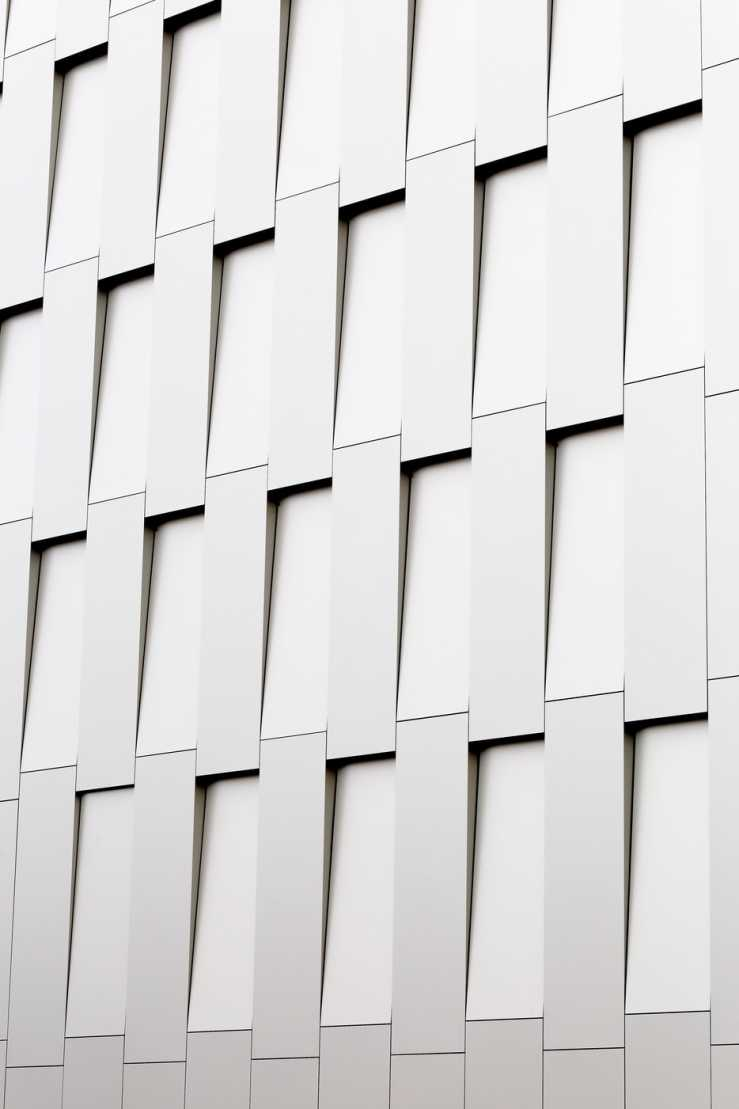 An aesthetic shot of a white building.