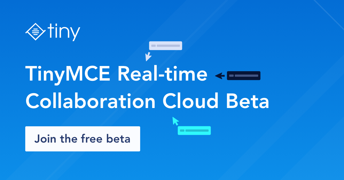 TinyMCE Real-time Collaboration Beta