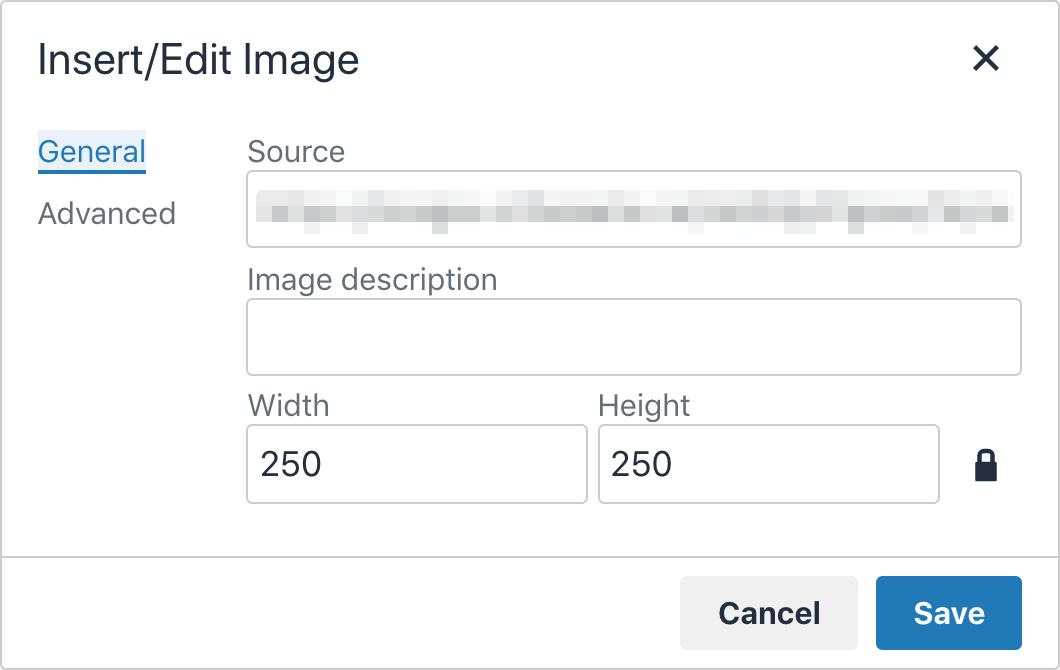 Image picker displaying prompt for image description.