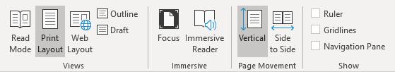 Screenshot of Microsoft Word