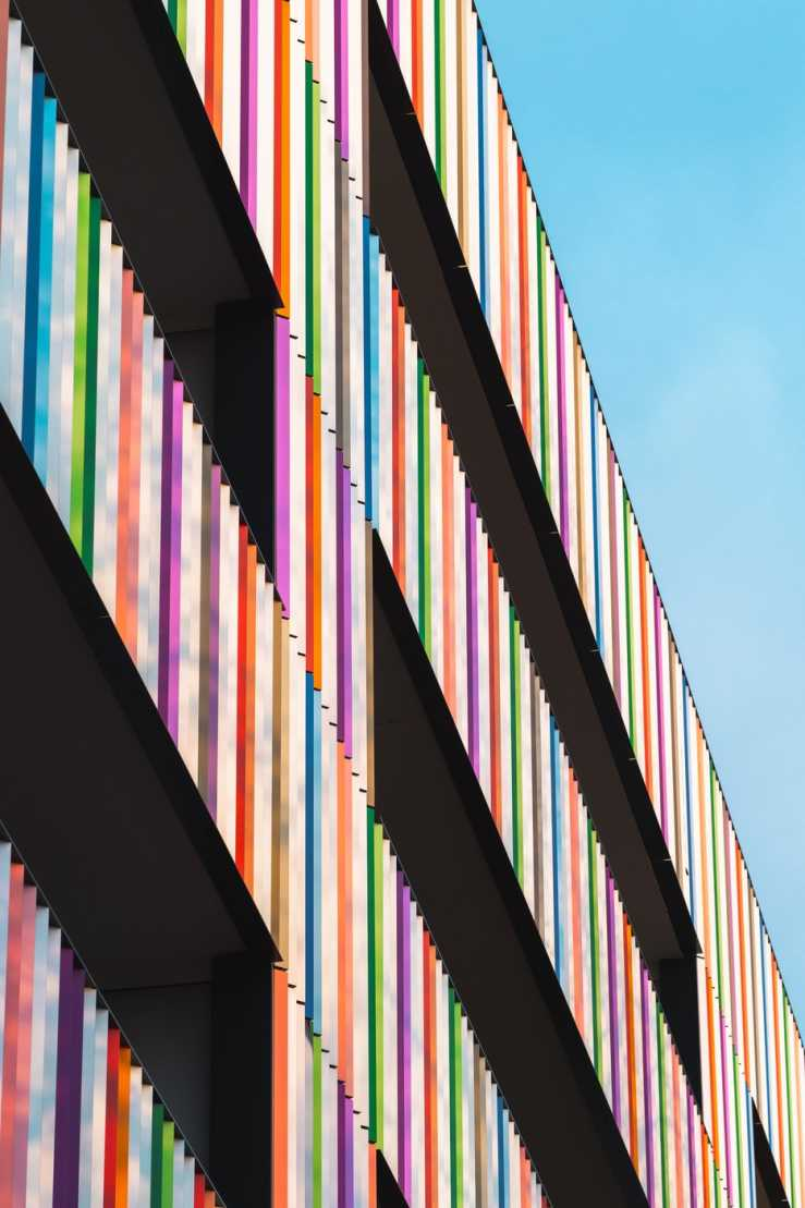 Image of a colourful building