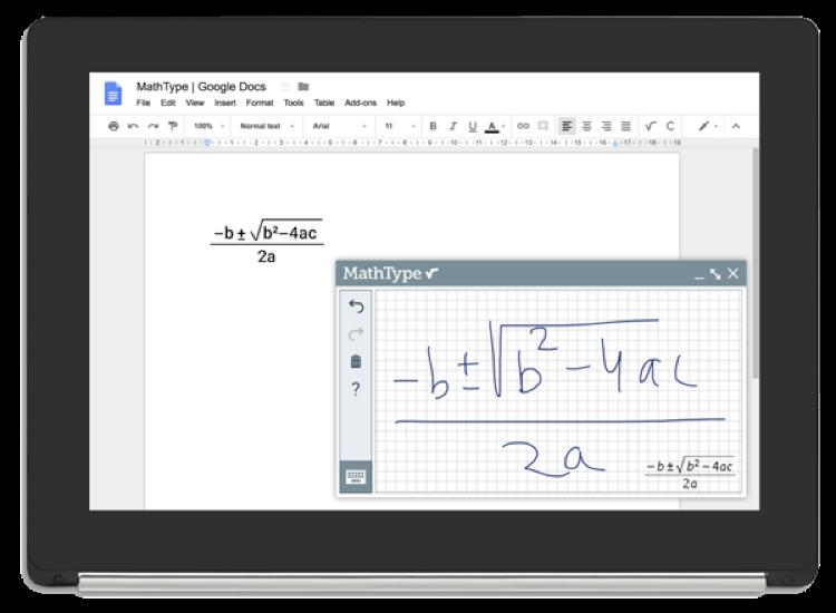 WIRIS MathType in Google Docs