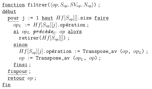 A sample of SOCT5 pseudocode from