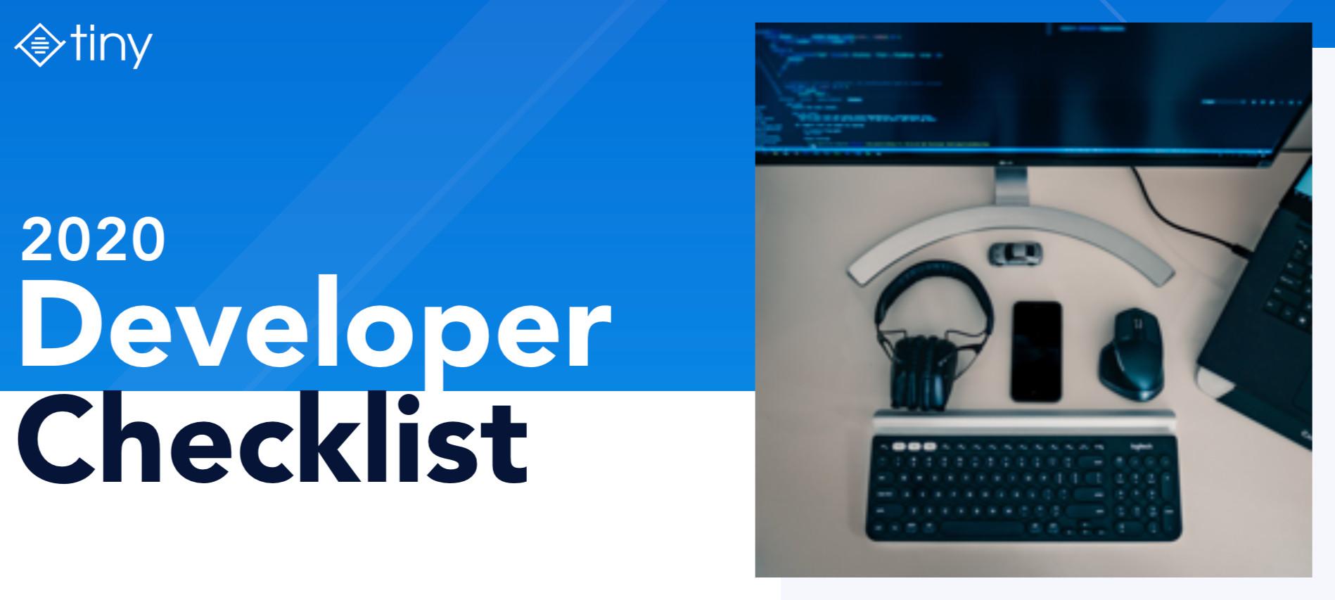 2020 developer checklist.