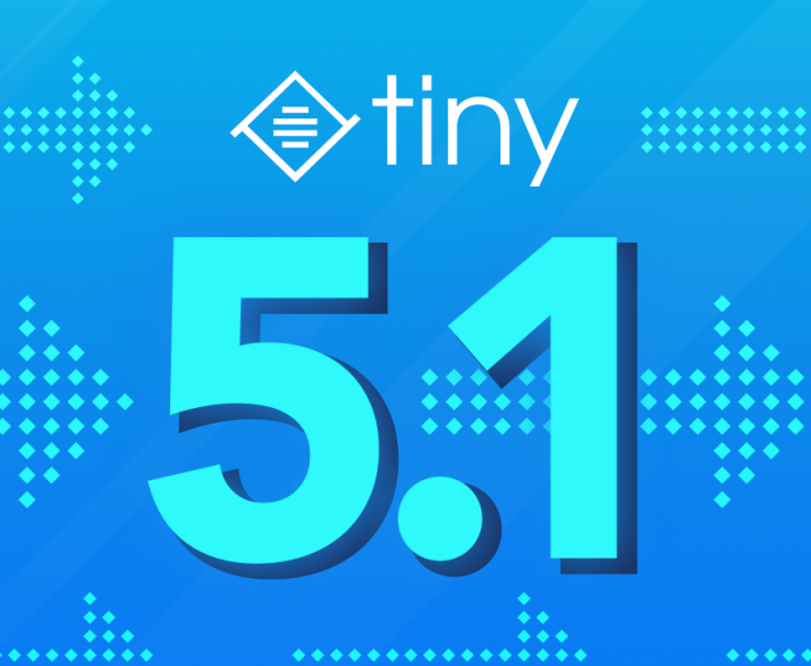 Tiny logo with text 5.1.