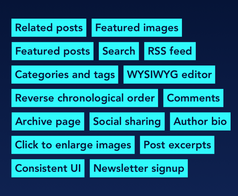 Group of categories and tags made from the section titles within the related article.