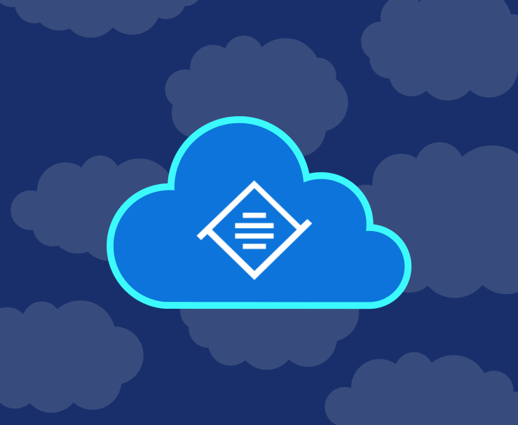 Illustration of a cloud with the Tiny logo inside.
