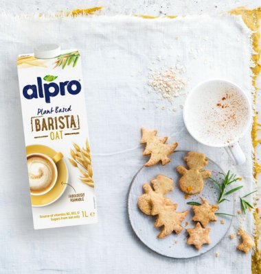 Festive Biscuits with a Spiced Oat Latte