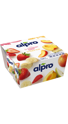 Strawberry with Banana & Alpro Peach with Pear