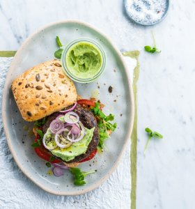 Veggie black bean burger