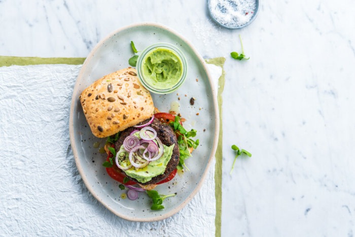 Veggie bean burger