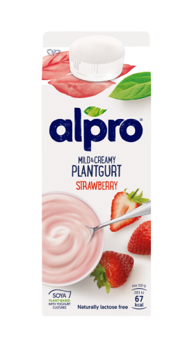 Mild and Creamy Plantgurt Jordgubbe