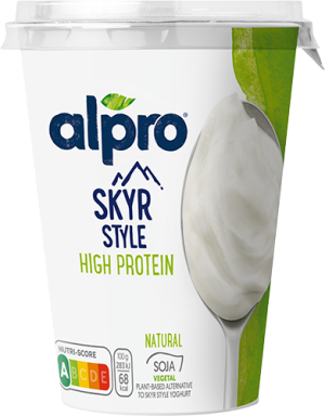Alternativa vegetal ao Skyr Natural