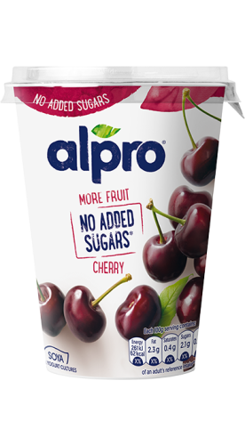 More fruit, no added sugars cherry