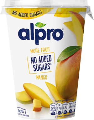 More fruit, no added sugars mango