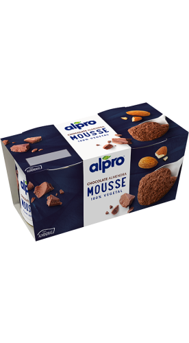 Mousse de chocolate y almendras