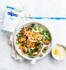 Scampi Salad with a Summer Curry Dressing