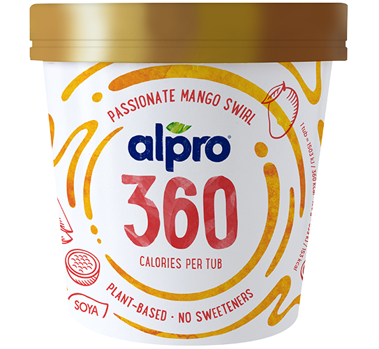 ICE CREAM - Alpro 360 Passionate Mango Swirl Ice Cream