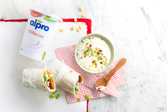 Fabulous falafel wrap with a tangy dip