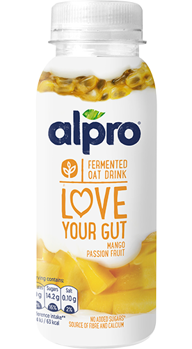 Alpro 'Love Your Gut' Oat Drink – Mango and Passion Fruit