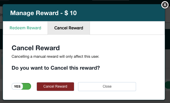 Cancel Reward