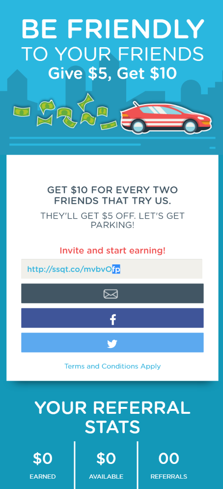 referral widget live mobile