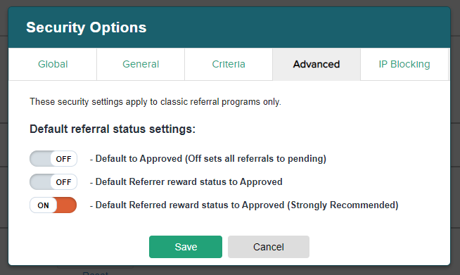 Default to Pending
