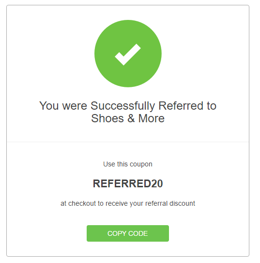 Referred User Widget
