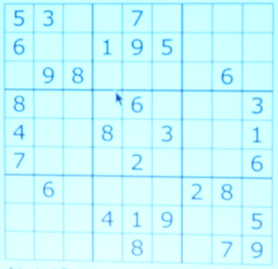spontaneous swift sudoku solving