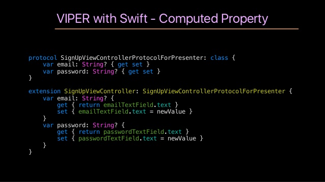 how to connect view with presenter swift viper
