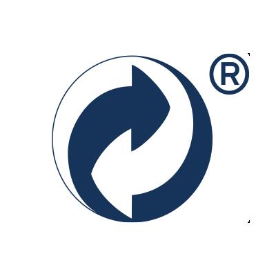 Grüner Punkt Logo in blau