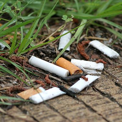 bubble-zigarettenstummel