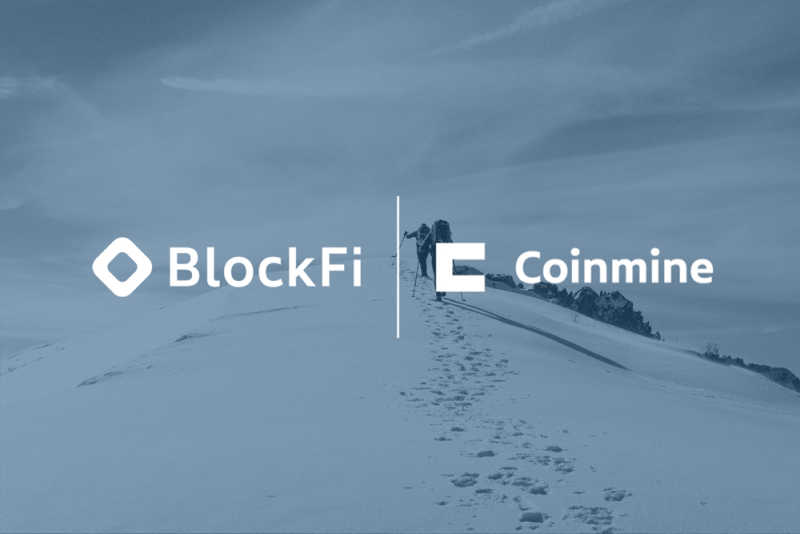 Blog post title: BlockFi + Coinmine Partnership Announcement
