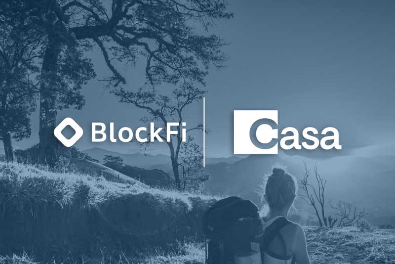 Blog post title: BlockFi + Casa Partnership Announcement
