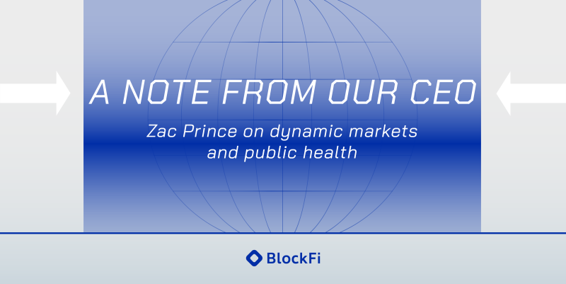 Blog post title: A Note From Our CEO: Zac Prince on Dynamic Markets and Public Health