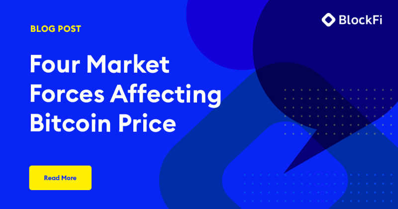 Blog post title: Four Market Forces Affecting Bitcoin Price