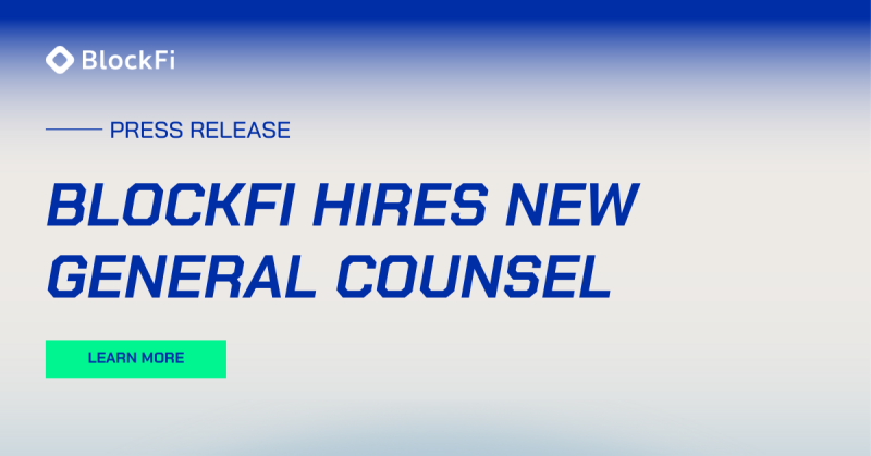 Blog post title: Jonathan Mayers Joins BlockFi as General Counsel