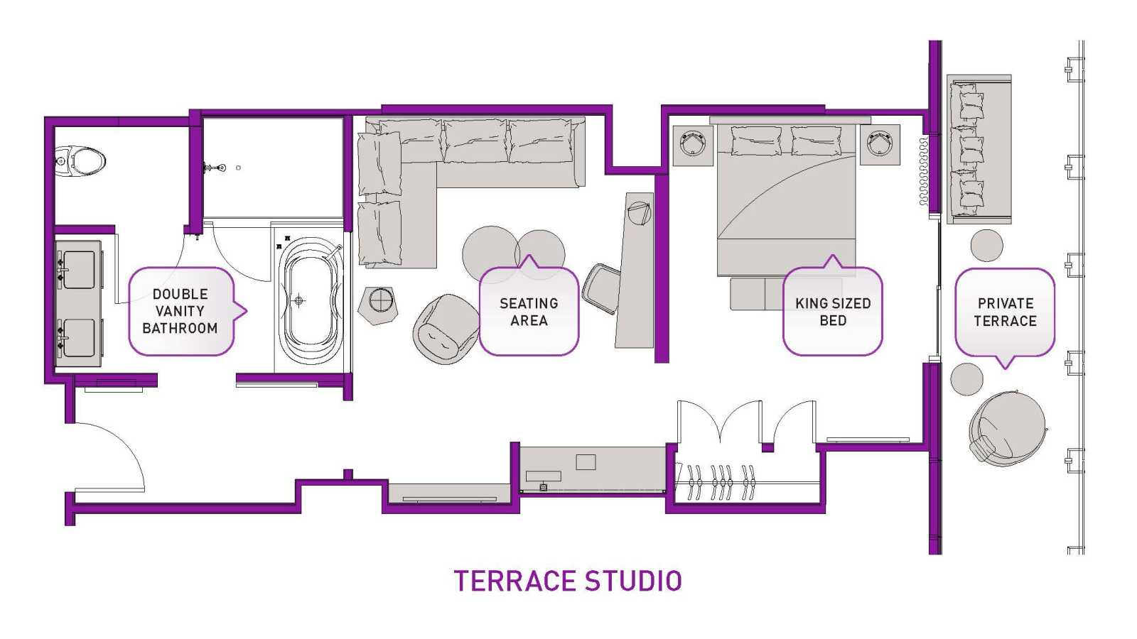 Floorplan: terrace studio