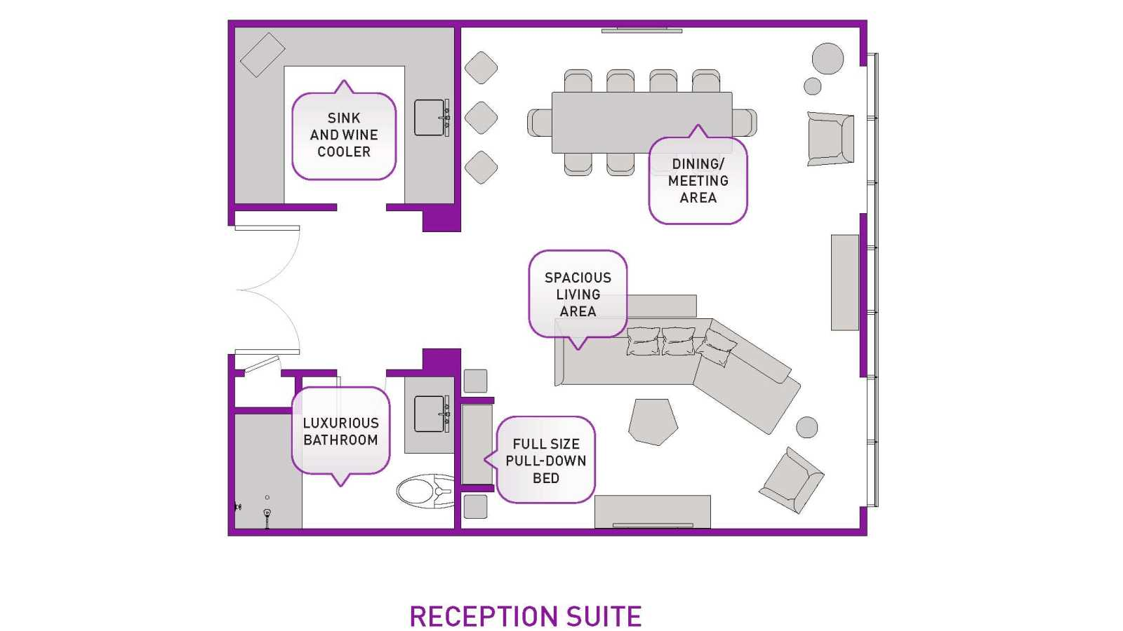 Reception Suite floor plan updated
