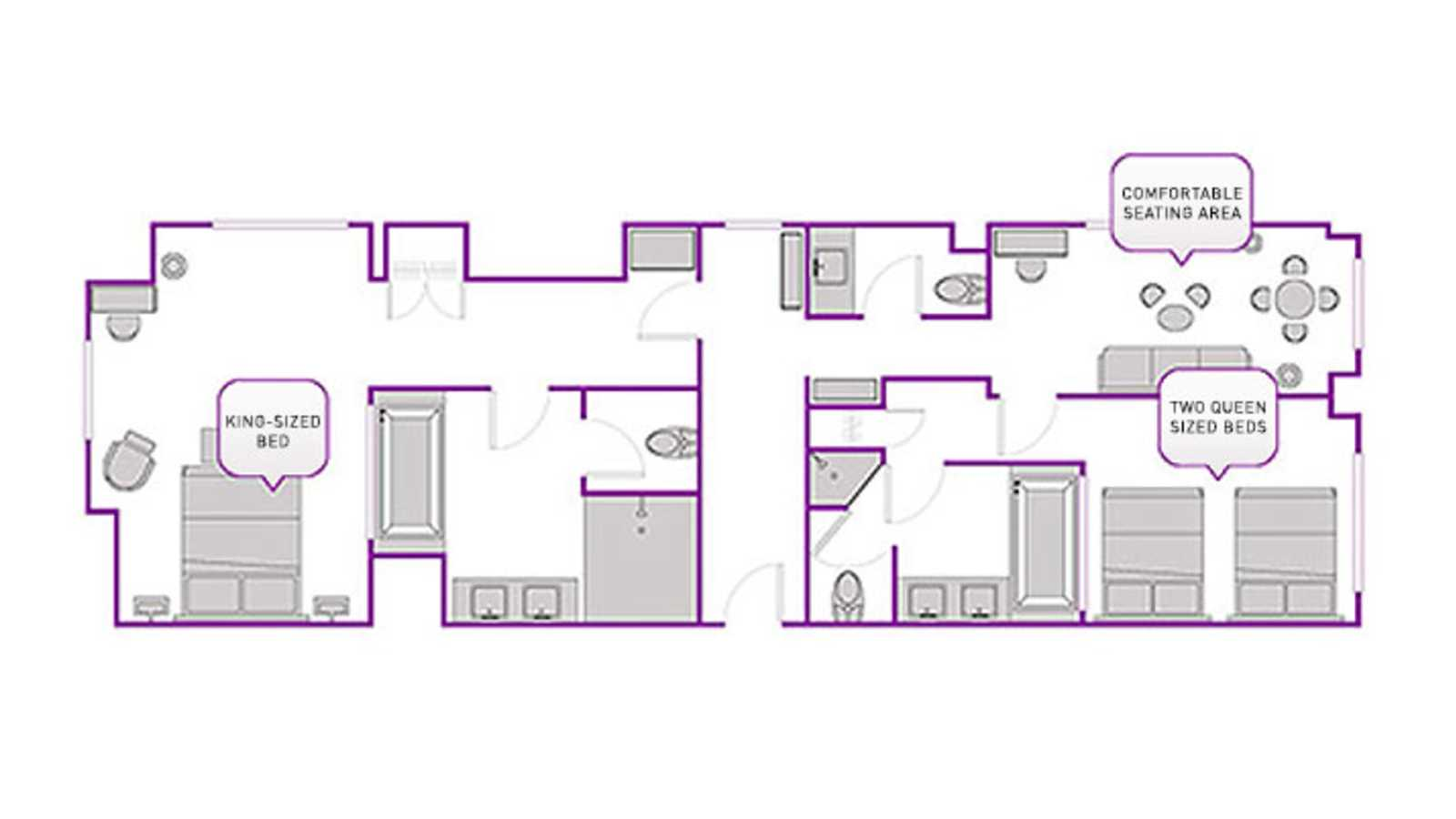 Two Bedroom City Suite floor plan