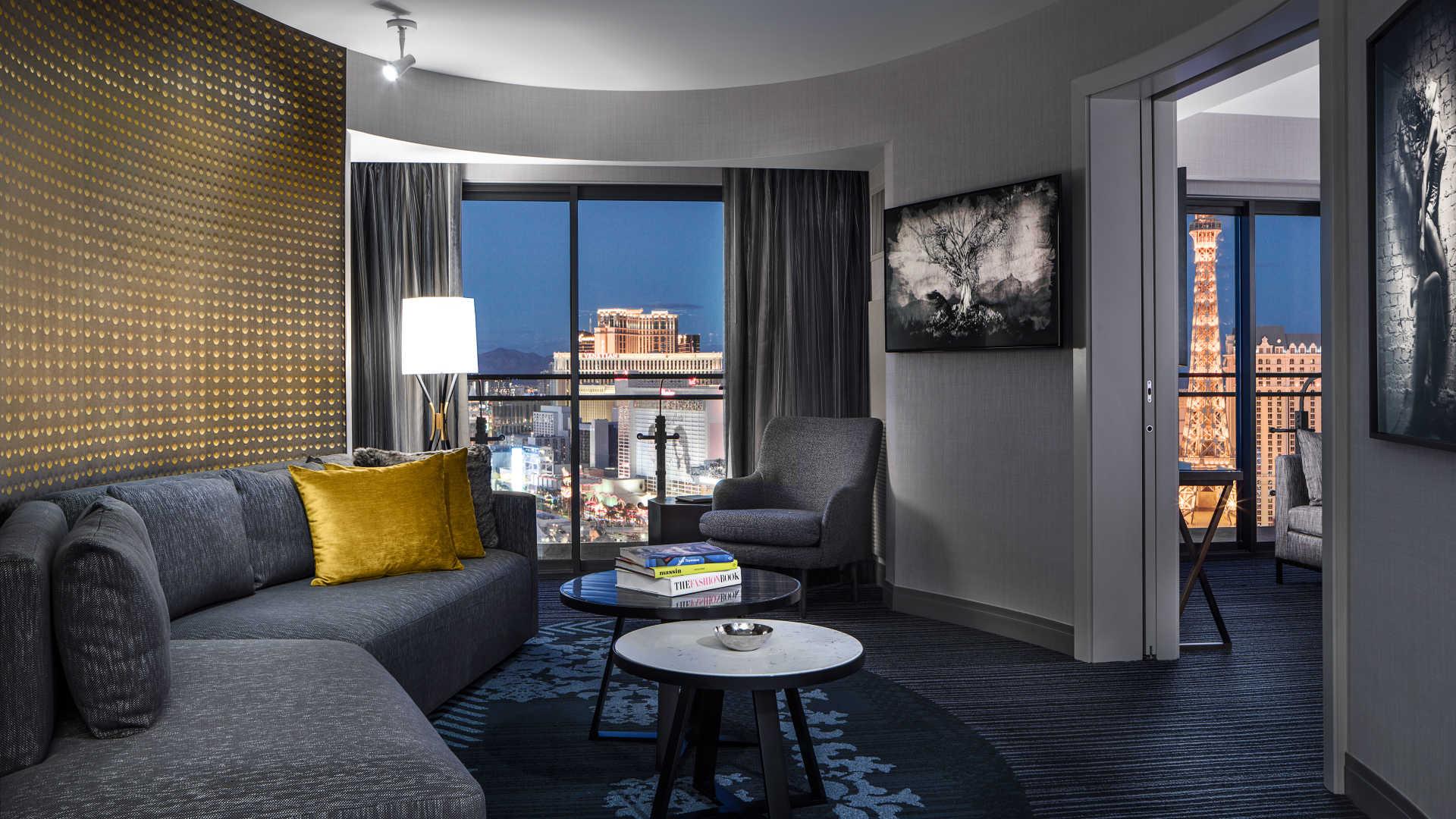 Outstanding Terrace Suite Fountain View The Cosmopolitan Of Las Vegas Interior Design Ideas Tzicisoteloinfo