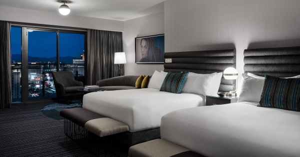 Las Vegas Luxury Hotel Terrace Studio Two Queen Beds