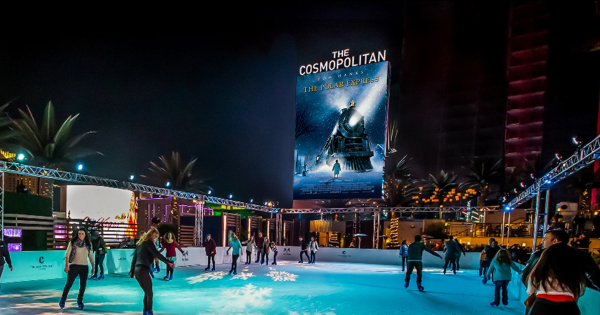 Las Vegas Luxury Hotel Date Skate The Polar Express Cosmopolitan